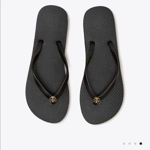 🆕Cute Black Tory Burch flip-flops